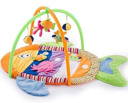 Baby Kriechende Matte Spieldecke Bunte Fische Kriechende Decke Kriechende Matte Baby Musik Spielzeug (Größe  120 × 70 × 50 Cm)