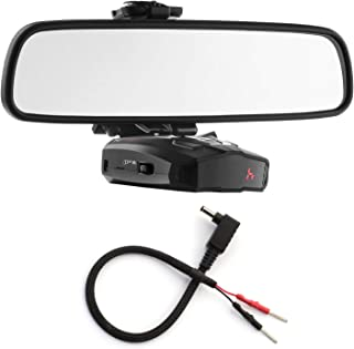 Radar Mount Mirror Mount Bracket + Mirror Wire Power Cord for Cobra Radar Detectors (3001103)