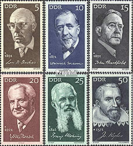 Prophila Collection DDR 1644-1649 (kompl.Ausg.) 1971 Berühmte Persönlichkeiten (V) (Briefmarken für...