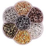 YAKA 245pcs 1 Box 7 Colors Alloy Lobster Clasp DIY Jewelry Bracelet Necklace Making Fastener Hooks (16x9mm)