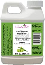 Verdana Cold Pressed Neem Oil 8 Fl. Oz - Unrefined, Filtered - High Azadirachtin Content - 100% Neem Oil, Nothing Added or Removed - Indoor/Outdoor Leafshine Spray, Pet Care, Skin Care, Hair Care