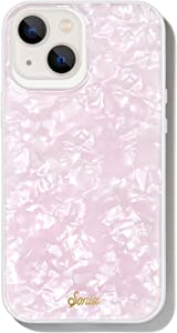 Sonix Pink Pearl Tort Case for iPhone 13 [10ft Drop Tested] Protective Translucent Iridescent Pink Marble Cover for Apple iPhone 13