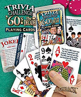 Flickback 1960's Decade Trivia Playing Cards: 50th Birthday or 50th
