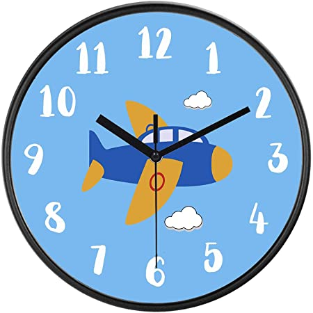 Baby Shower aviation Airplanes Airplane Flying Ace Wall Clock transportation New 10 Nursery Gift Bedroom