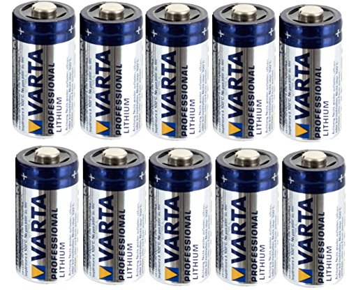 Vitamed Folienbeutel bestückt mit 10x Varta Professional Lithium CR 123 A Photo Batterie mit 1600 mAh