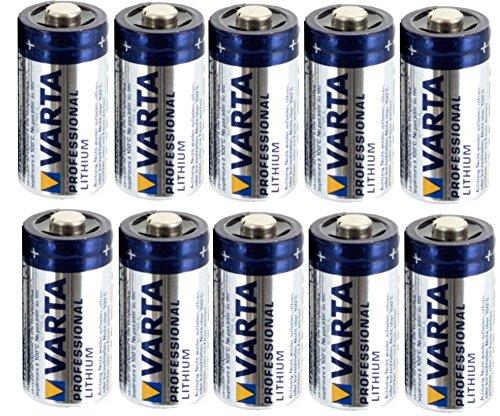 Vitamed Folienbeutel bestückt mit 10x Varta Professional Lithium CR 123 A Photo Batterie mit 1600 mAh