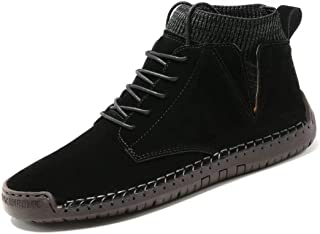 Men's Dress Boots Casual Fashion lace-up Boots Hand-Sewn Outdoor Work Oxford Boots
