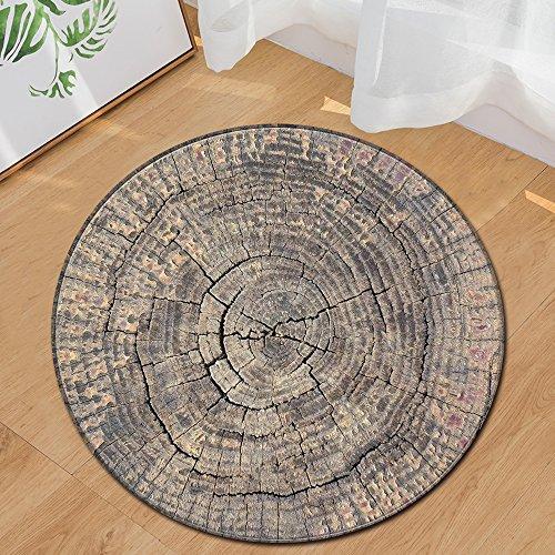 SODKK Modern Wohnzimmer Teppich 80cm Rund Flauschige Hochflor Teppiche Pflegeleicht 8 Teppichgreifer Antirutschmatte für Wohnzimmer Badezimmer