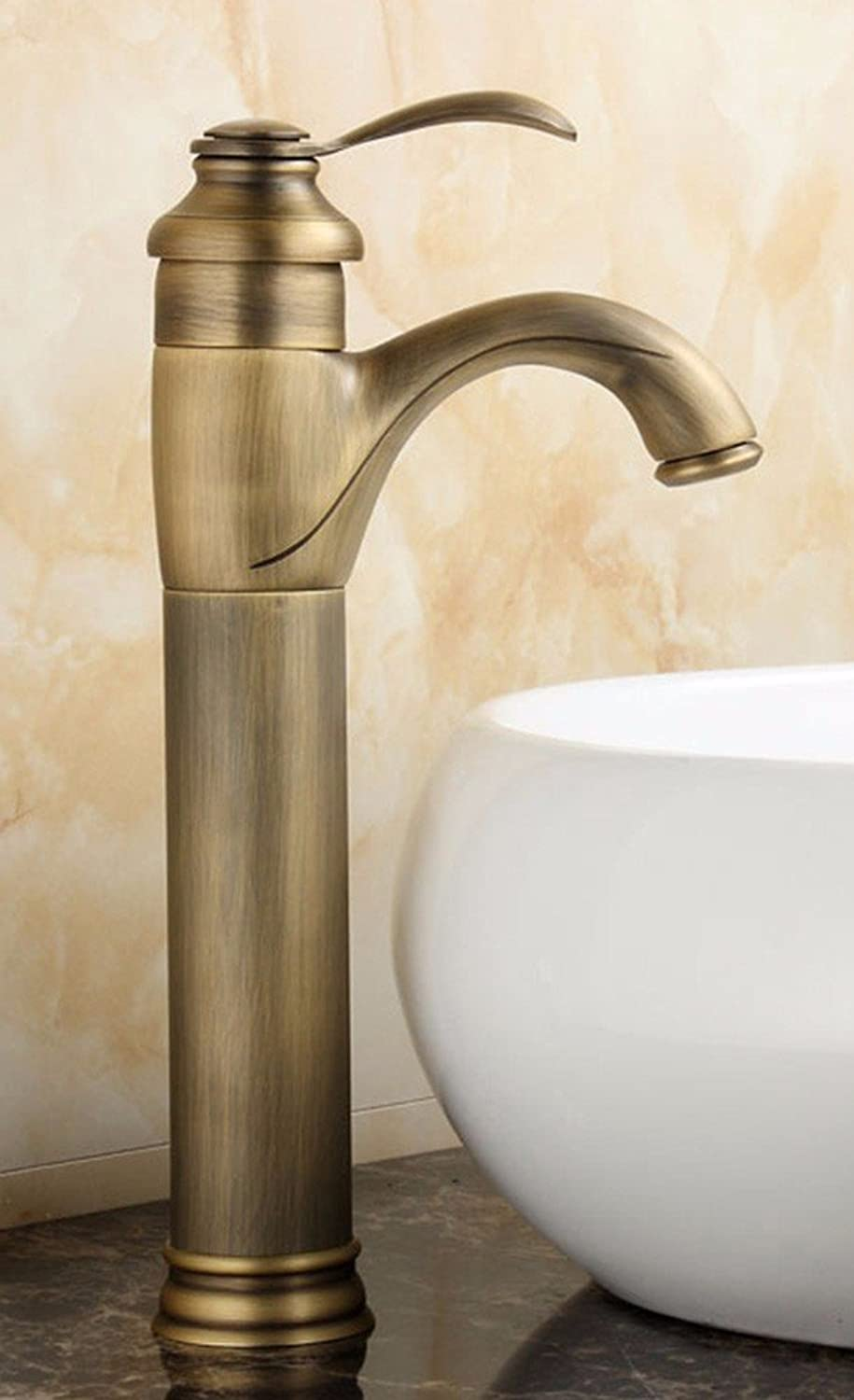 Hlluya Professional Sink Mixer Tap Kitchen Faucet Copper basin, Single Hole, hot and cold water faucets, 9