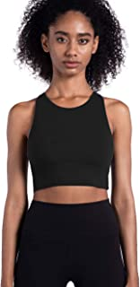 Lemedy Women Strappy Sports Bras Padded Medium Support Yoga Workout Tank Top