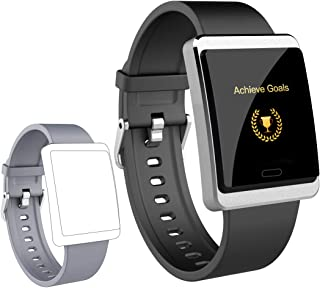 maxtop Smart Watch for Android Phones - iOS Phones, Full Screen Large Size Metal Shell Clear Interface Smartwatch for Women Men and Teenager Silver