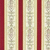 Fabulous Fabrics Jacquard rot, Streifen, 140cm breit –