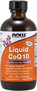 NOW Supplements, CoQ10 Liquid, 100 mg per Teaspoon, with Co-enzyme B Vitamins, Sweetened with Xylitol, 4-Ounce