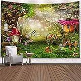 Fantasía seta castillo tapiz colgante de pared tapiz celestial hippie tela de fondo manta tela colgante A8 150x200cm