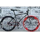 YXWJ 2020 Nueva Bicicleta de Ciudad 26 Pulgadas Camino de la Bicicleta Marco de suspensión for Las Mujeres Estudiante de educación Superior de Aluminio Ligero de Bici de montaña del Disco de Freno