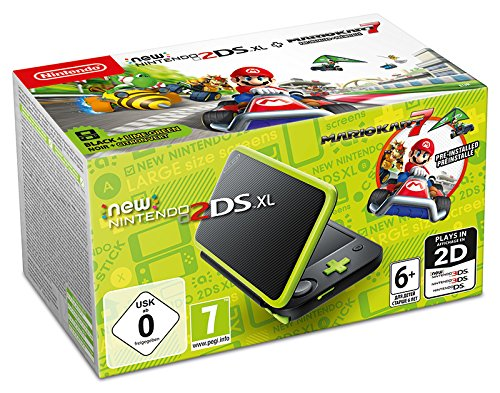 New Nintendo 2DS XL Nero e Lime + Mario Kart 7