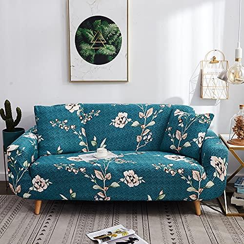 ASCV Funda de sofá con Estampado de Rayas Modernas Fundas de reposabrazos Fundas de sofá con Todo Incluido Funda de sofá elástica seccional Estilo L A4 2 plazas