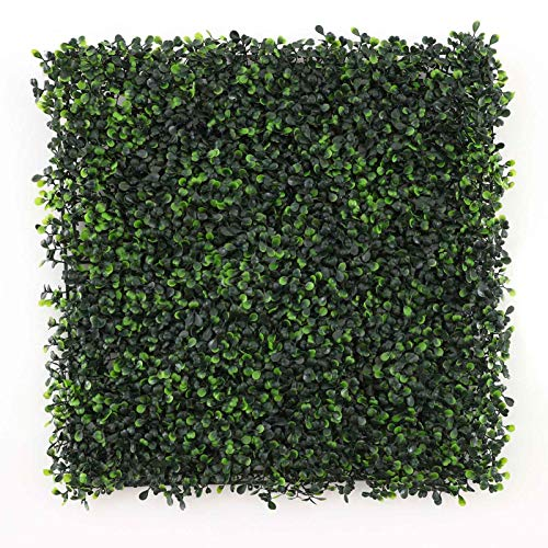 ColdShine 6Pcs Artificial Boxwood Fence Greening Decorative Fence Privacy Hedge Wall Panel Artificial Grass Background Wall Artificial Greening Decorative Privacy Fence Indoor Outdoor Garden Backyard