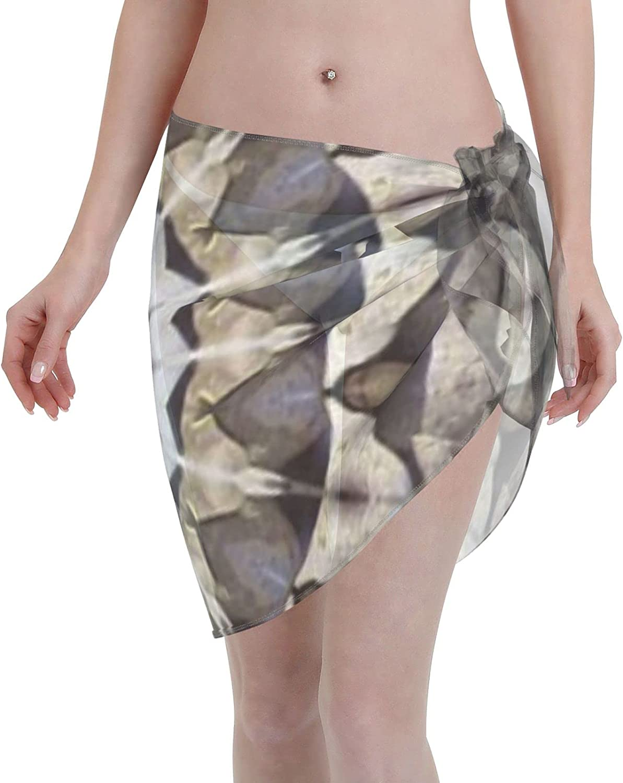 Women Short Sarongs Beach Wrap,Beach Wrap Sheer Bikini Wraps Chiffon Cover UpsStar Mosaic Fantasy Fractals Art Pattern Beach Wrap Sheer Bikini Wraps Chiffon Cover Ups