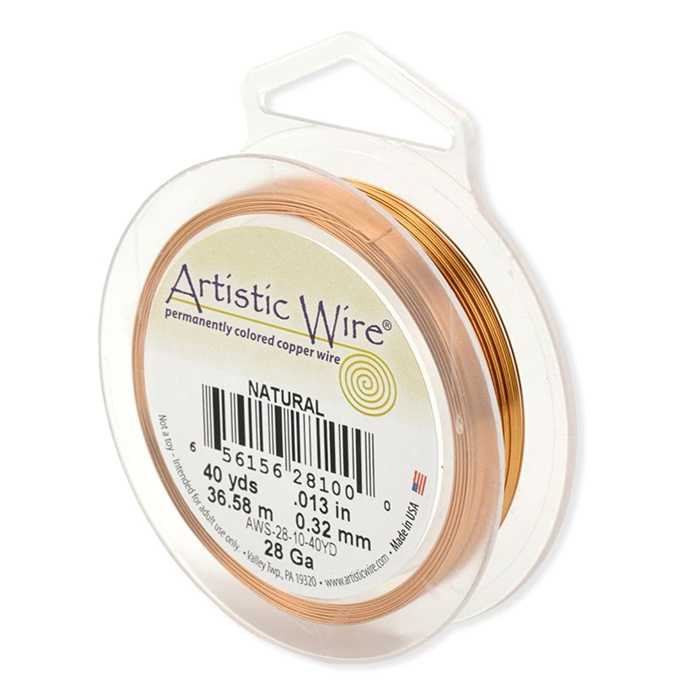 Artistic Wire 32-Gauge Natural Wire, 100-Yards