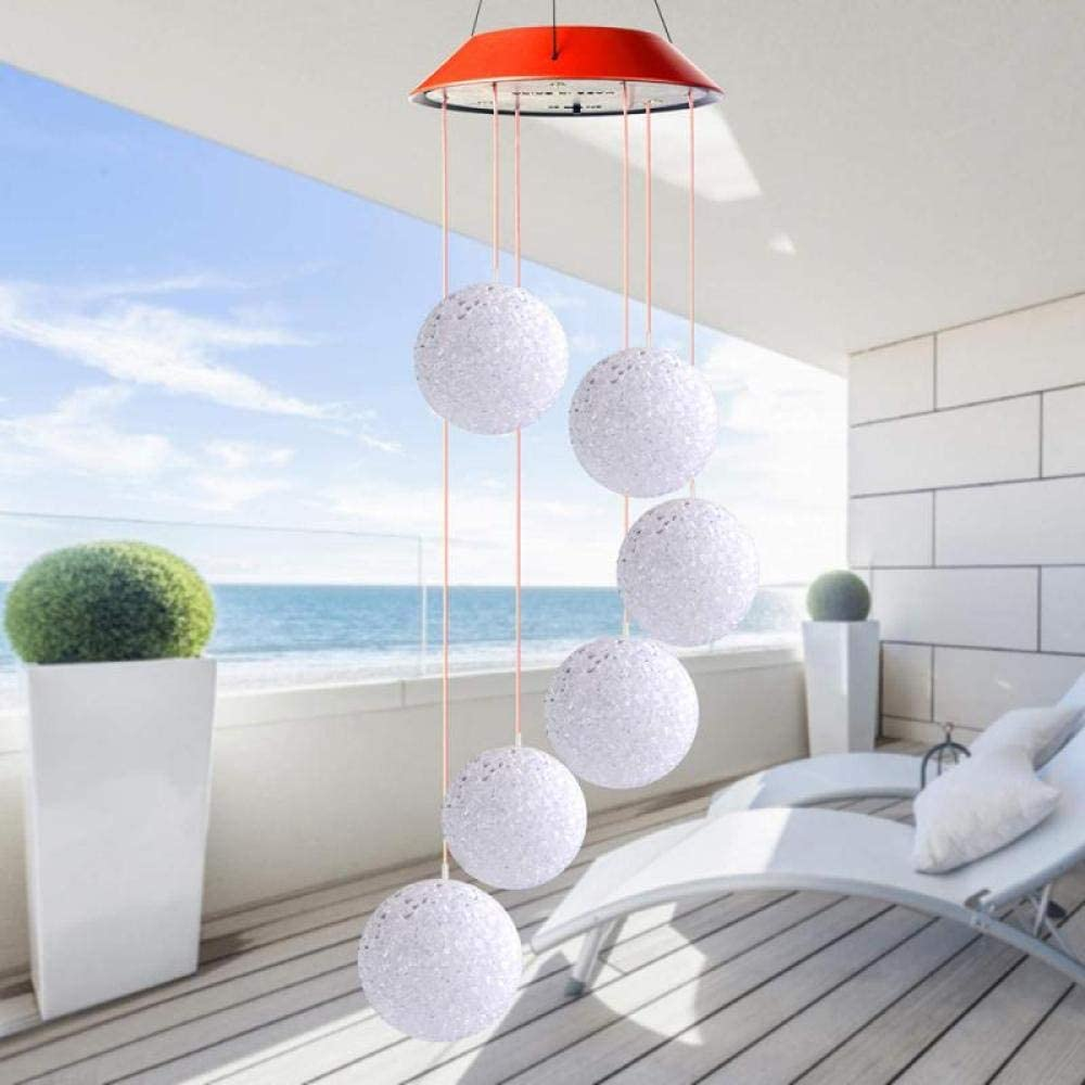 1PC Solar Light Outdoors Powered LED Changing S Wind Ranking TOP1 Chime Special sale item Color
