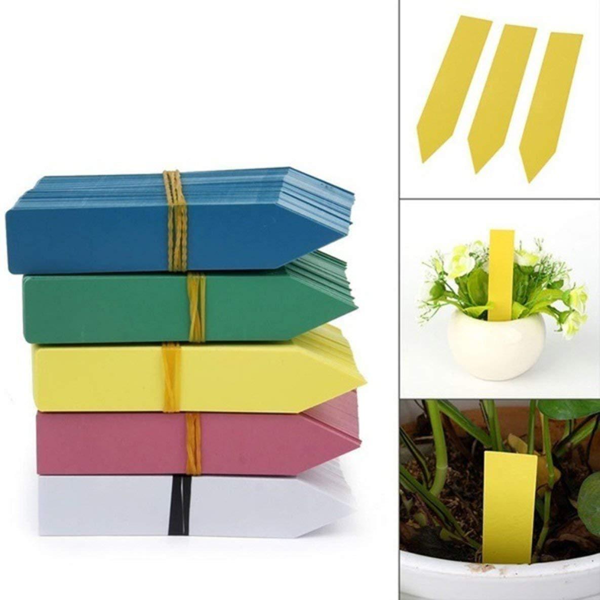 Moliies Etiquetas de Semillas de Flores de Plantas de plástico Impermeables Reutilizables Etiquetas de jardín Herramientas de decoración 50丨100 Piezas 丨 Paquete 丨 Amarillo: Amazon.es: Jardín