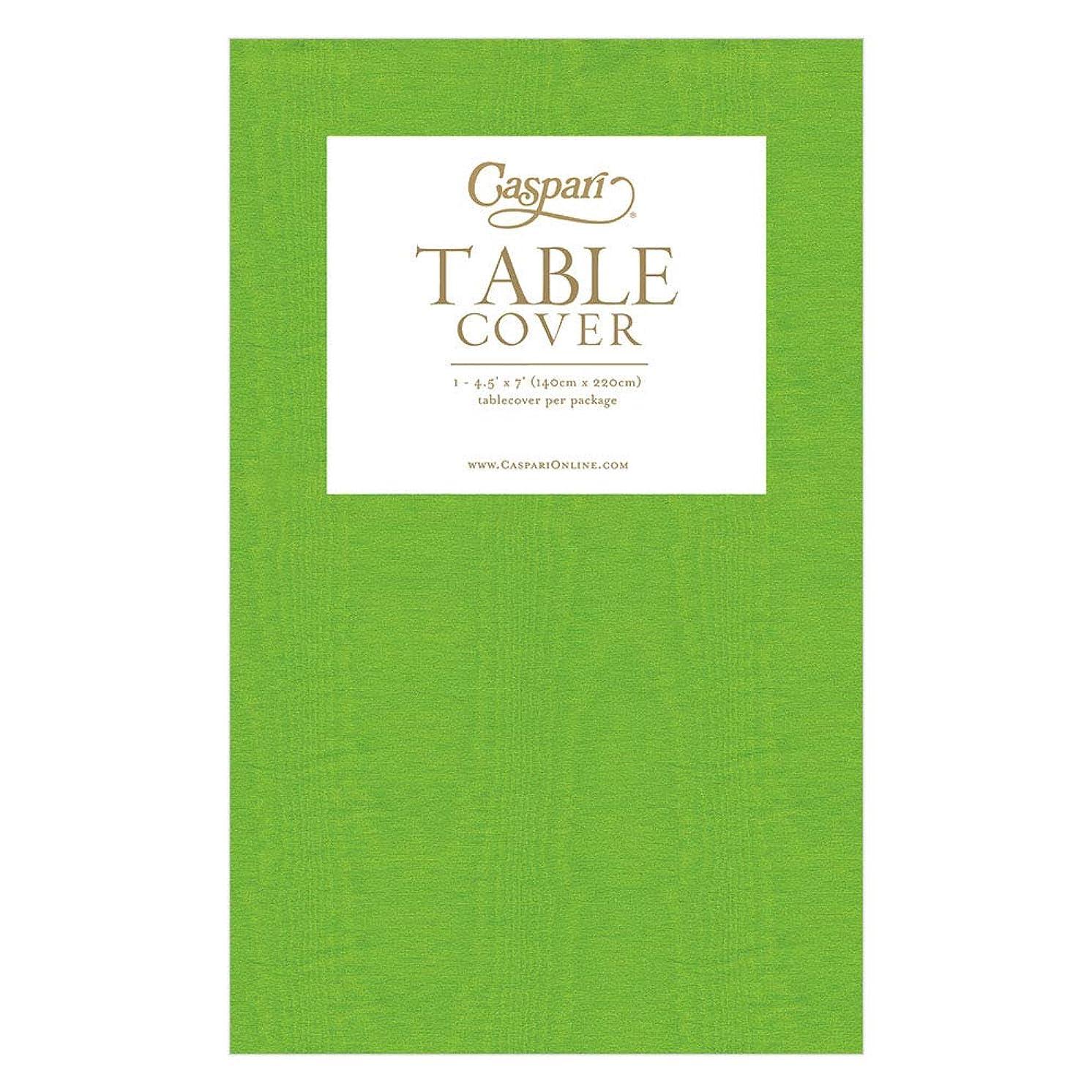 Caspari 9734TCP Moss Green Moire Printed Paper Table Cover, 7' x 4.5',