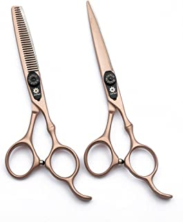 Professional Hair Cutting Scissors Barber Scissors Kit Hair Thinning Shears Set -Japanese 440C Stainless Steel Hairdressing Scissors 6 inch with Fine Adjustment Screw-Dream Reach (Rose Gold)