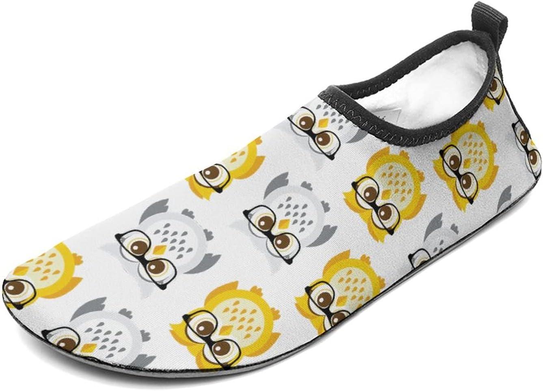 WEEDKEYCAT Cute Owls Fun Water Shoes for Men Women Aqua Socks Ba