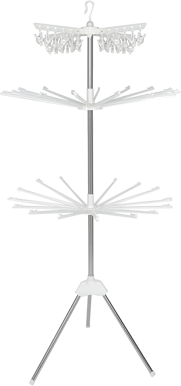 hangZUYy Cheap SALE Start 3- Super popular specialty store Layer Towel Rack Steel Foldab Freestanding Stainless