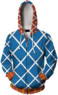 Xiao Maomi Bizarre Hoodie Casual Cool Jacket Anime Kujo Jotaro Uniform Cool Cosplay Costume Zipper Long Sleeves Coat