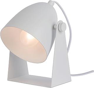 Lucide 45564/01/31 Lampe de Table, Métal/PVC, 40 W, Blanc