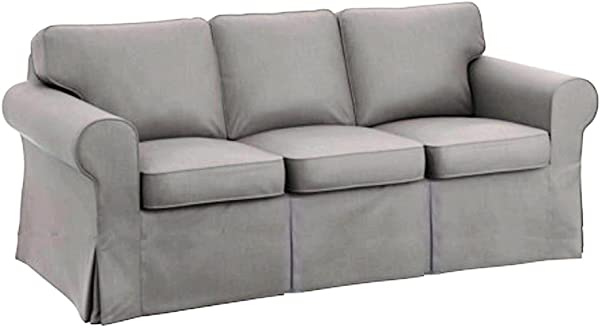 The Sofa Cover Is 3 Seat Sofa Slipcover Replacement It Fits Pottery Barn PB Basic Three Seat Sofa Basic Light Gray