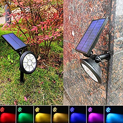 TEALP Solar Lights Outdoor 9 LEDs