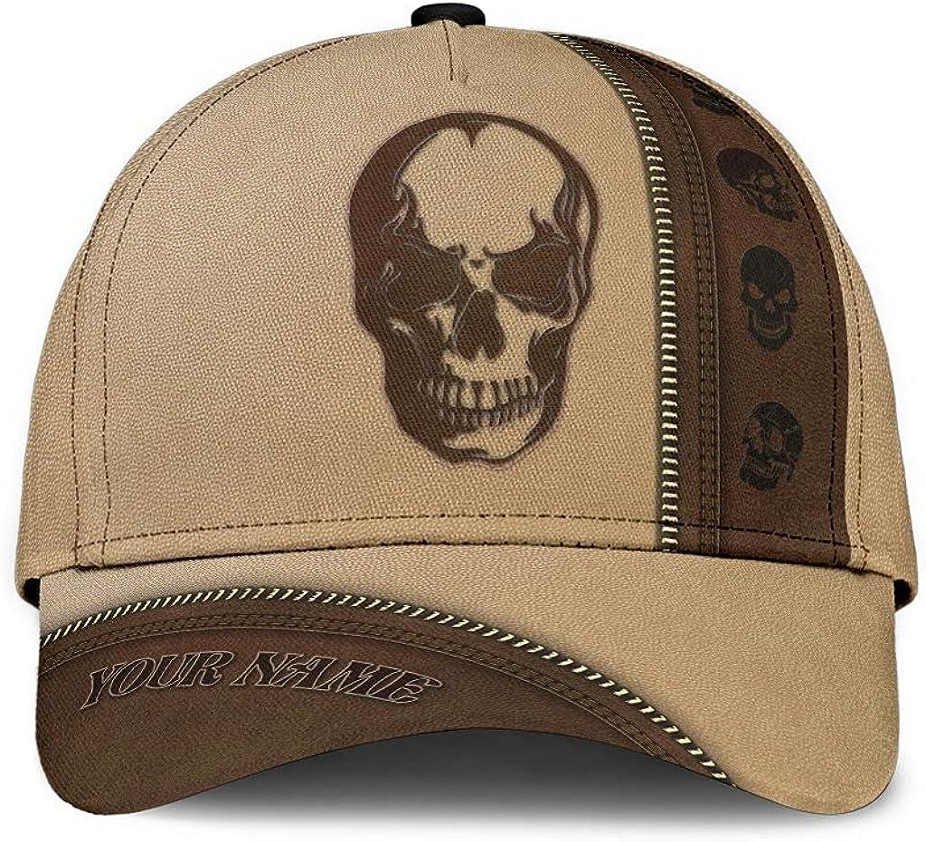 Customized Name 3D Printed Cap Skull Custom Leather Classic Ranking TOP10 Hat Cheap bargain