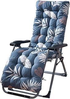 Cuscino Sdraio Imbottita Relax con Cappuccio Antiscivolo 170x53x7cm Cuscini Imbottito Lettino Universale Massaggio Eelastico da Soggiorno Salotto Sala Spiaggia Giardino Blu