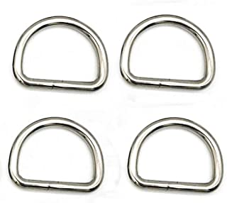 ecopack 2 pcs Best divers Stainless Steel D Ring 25 mm Grey, Unisex Adult