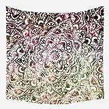 Miwaimao Fondo colgante tela tela de malla colgante tapiz bohemio rojo, c,150x200