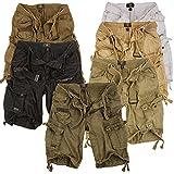 Geographical Norway Cortos Cargo Pantalones Cortos Bermudas con Cinturón Pantalones Cortos Hunter en el Bundle con UD PAÑUELO - Negro, XXL