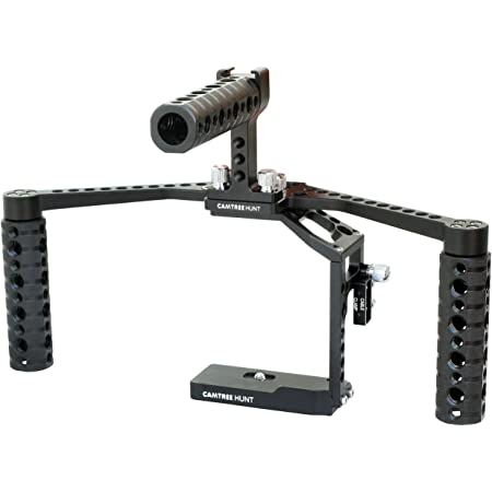 CAMTREE Hunt Booster Handheld Dual Handle Camera Cage for Compatible with Panasonic Lumix GH3/GH4 (CH-BC-GH34)