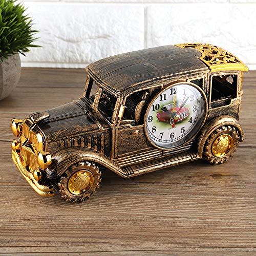 banapo Klassischer Oldtimer-Wecker 8,7 * 4,1 * 2,8In Multifunktions-Wecker, Schreibtischwecker, digitaler Wecker für Family Office(Bronze)