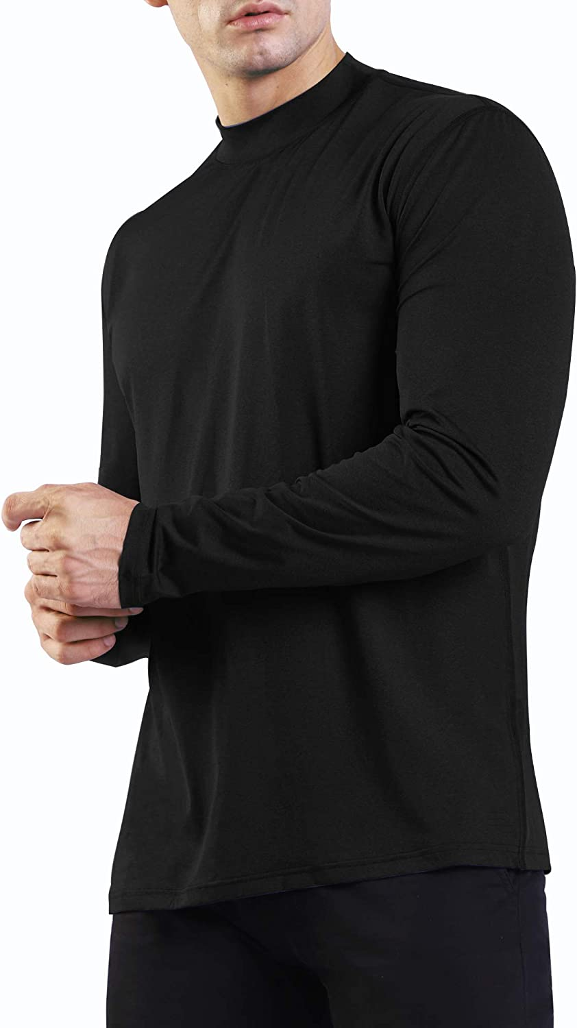 Credence OGEENIER Men's Sales for sale Long Sleeve Athletic T-Shirt Wo Mock Running Neck