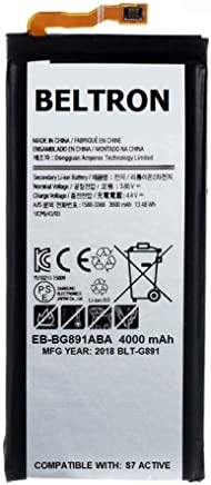 New 4000 mAh BELTRON Replacement Battery for Samsung Galaxy S7 Active G891 - EB-BG891ABA