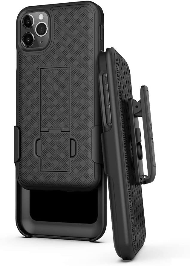 BELTRON Case with Belt Clip for iPhone 11 Pro, Shell & Holster Combo - Super Slim Shell Case with Built-in Kickstand, Swivel Belt Clip Holster for Apple iPhone 11 Pro 5.8