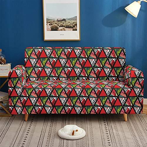 Surwin Sofabezug Sofa Überwürfe 1 2 3 4 Sitzer, Muster Elastische Universal Sofahusse Sofa Abdeckung Stretch Schonbezug Couchbezug für Armlehnen Sofa (Dreieck,2 Sitzer (145-185cm))