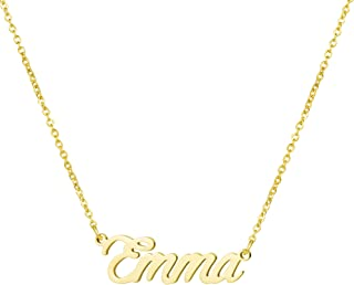 Yiyang Personalized Name Necklace 18K Gold Plated Stainless Steel Pendant Jewelry Birthday Gift for Girls