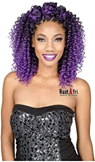 Rastafri Crochet Braid Bahama Curl (1B - Off Black)