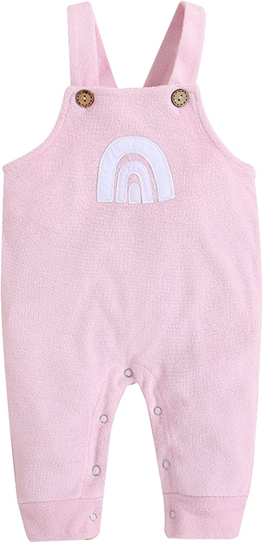 Newborn Baby low-pricing Girl Sleeveless Rainbow PrintJumpsuit Overalls Max 82% OFF
