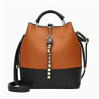 KHBJD Bucket Bag for Women Large Crossbody Purse and Shoulder Bag Suede Tote Handbags (Color : Brown)