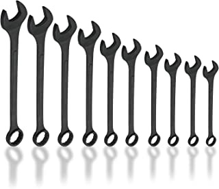 Neiko 03129A Jumbo Combination Wrench Set, 10 Piece | Black Oxide Finish | SAE (1-5/16